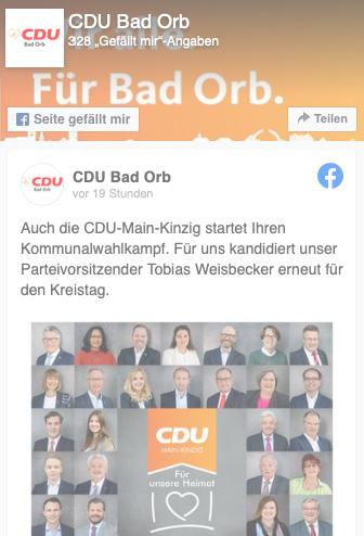 CDU Bad Orb Facebook