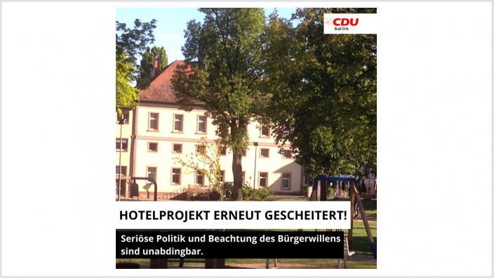 Hotel, Bad Orb, grscheitert